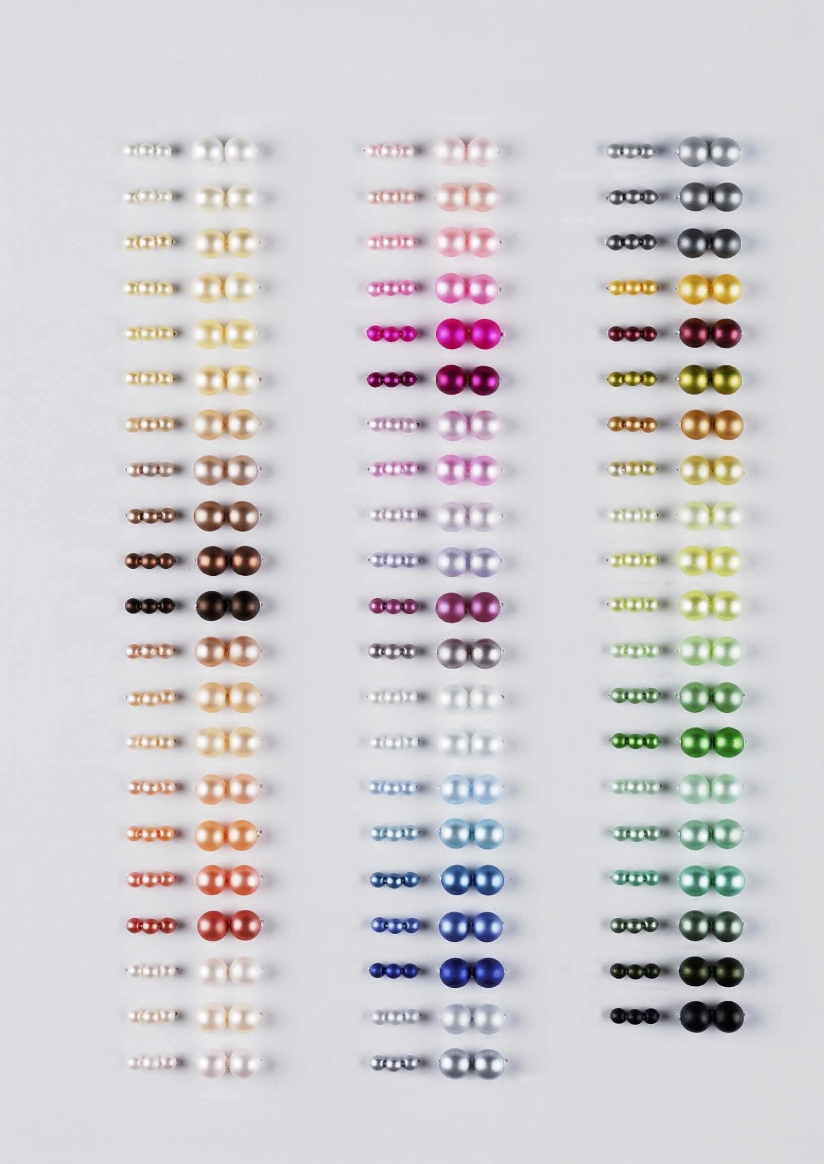 Карта цветов премиальной линейки жемчуга Preciosa Ornelа